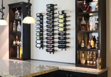 Great DIY Ideas for Making your Own Wine Rack - wine rack, diy Wine Rack, diy wine charms projects, diy wine, DIY shelf, diy rack, diy home organization
