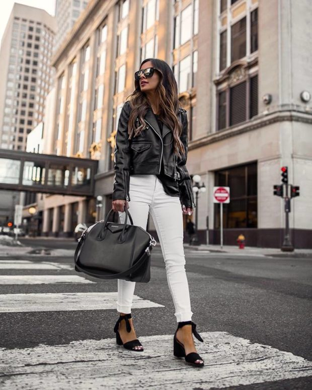 14 Ways To Wear White Jeans and Pants This Spring