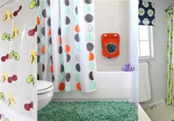 DIY Shower Curtain Projects Anyone Can Make - DIY Shower Curtain, DIY Shower, diy curtains, DIY Curtain Ideas, DIY Bathroom Ideas, DIY Bathroom Idea, curtains