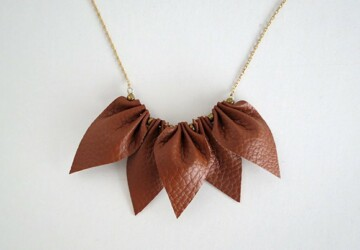 14 Unique Handmade Necklace Ideas that You will Love - Necklace Ideas, necklace, Handmade Necklace Ideas, Handmade Necklace, diy necklaces, diy jewelry