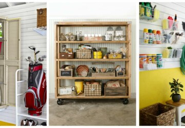 7 Easy Garage Organization Ideas - utility cart, Organization, ideas, hook racks, garage, diy corner, corner storage