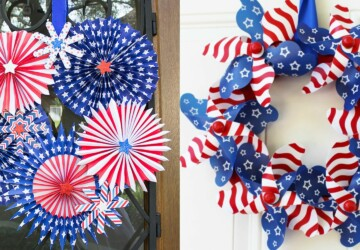 15 Amazing 4th of July Wreath Ideas (Part 1) - 4th of July Wreath Ideas, 4th of July Wreath, 4th of July diy wreath, 4th of July diy decor, 4th Of July Crafts