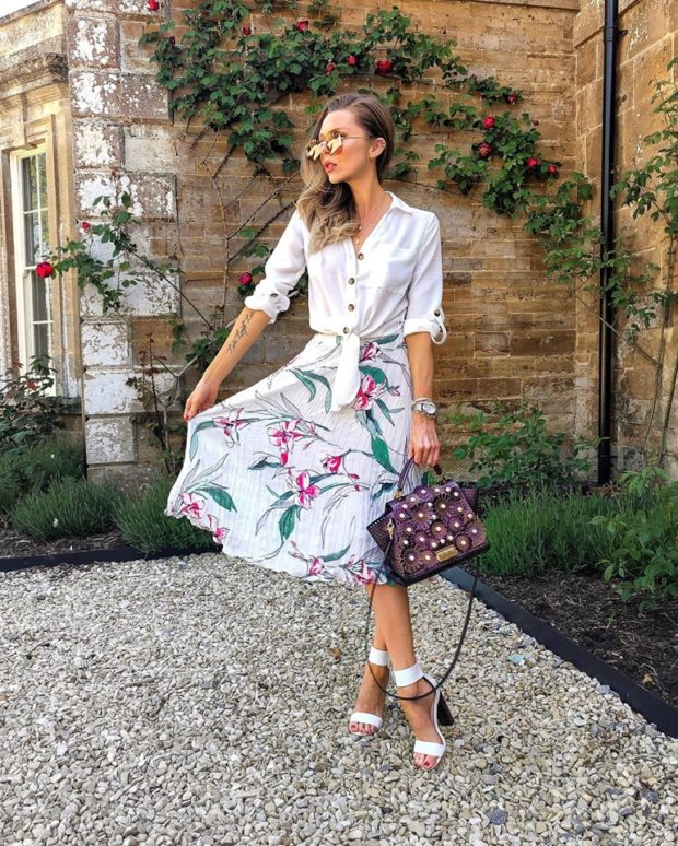 13 Super Stylish Midi Skirt Outfits for Summer