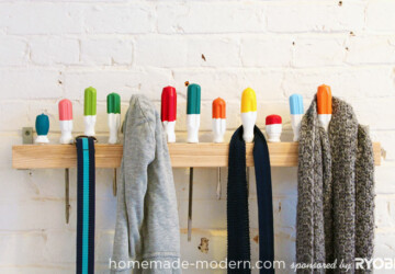 13 Clever DIY Coat Rack Ideas For Your Home - diy home improvement, DIY Coat Rack Ideas, DIY Coat Rack, Coat Rack Ideas