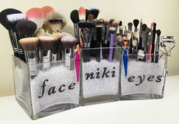 15 DIY Makeup Storage and Organization Ideas (Part 1) - DIY Makeup Storage and Organization Ideas, diy makeup storage, DIY Makeup Organization Ideas