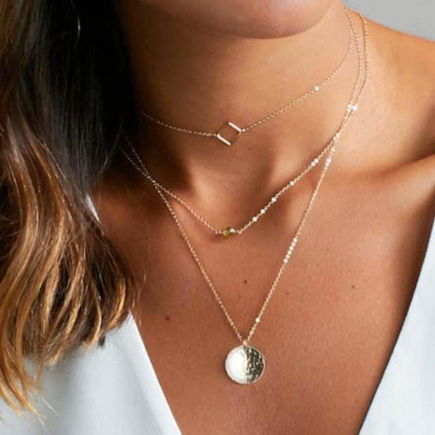 How to Layer Jewelry Tastefully