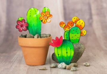 15 Creative Cactus Crafts and Art Projects (Part 1) - DIY Cactus-Inspired Projects, DIY Cactus, Cactus Crafts, cactus