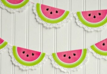 15 Sweet and Summery Watermelon DIY Projects (Part 1) - watermelons, Watermelon DIY Projects, watermelon, diy summer projects, diy summer decorations