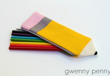 15 Great DIY Pencils and Pencil Cases for School - DIY Pencils and Pencil Cases for School, DIY Pencils and Pencil Cases, DIY Pencils, DIY Pencil Cases