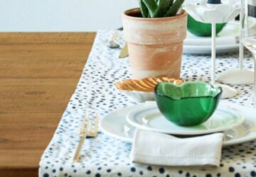 12 Stunning and Simple DIY Table Runner Ideas - Table Runner Ideas, Table Runner, DIY Table Runner Ideas, DIY Table Runner, DIY table