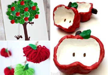 Simple and Fun Apple Crafts for Kids to try this Fall - halloween kids crafts, diy kids crafts, Apple Crafts for Kids, apple crafts, apple, 4th of July diy decor