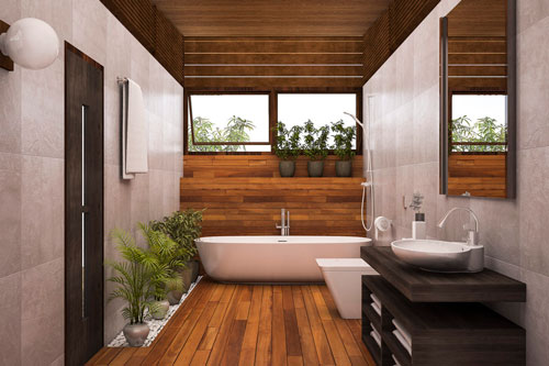 6 Bathroom Problems That Have Easy Solutions - underfloor heating, Storage, solutions, shower, probles, double sink, color, clutter, bathroom