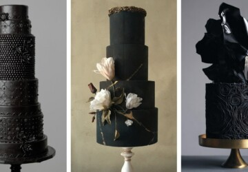 15 Breathtaking Black Wedding Cakes - Winter Wedding Cakes, wedding cakes, Black Wedding Cakes, Black Cakes