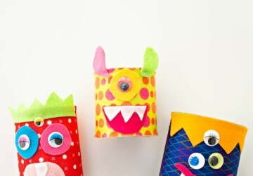 15 Not So Scary Monster Crafts For Kids (Part 2) - Monster Crafts For Kids, DIY Halloween Crafts, Crafts For Kids