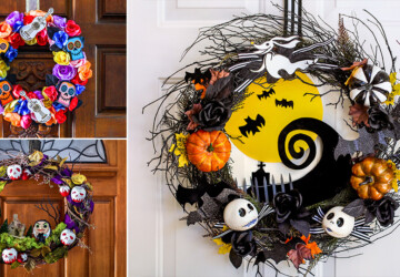 15 DIY Halloween Wreath Ideas (Part 2) - DIY Halloween Wreaths, DIY Halloween Wreath Ideas, diy Halloween wreath