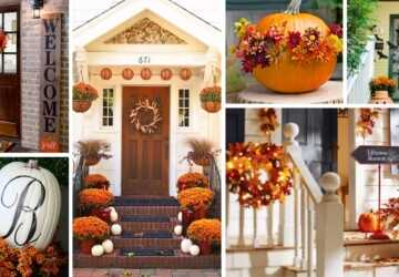 Front Porches that Have Us So Ready for Fall - Fall Porch Decorating Ideas, Fall Porch Decor Ideas, fall porch decor, Fall Porch, DIY Fall Porch