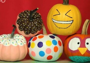 16 Amazing Pumpkin Painting Ideas - Pumpkin Painting Ideas, Pumpkin Ideas, No-Carve Pumpkin Decorating, No-Carve Pumpkin, DIY pumpkin