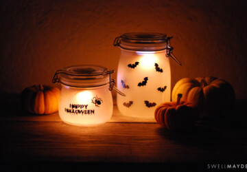 15 Cute DIY Halloween Mason Jars (Part 1) - mason jars, DIY Mason Jars, diy halloween mason jars, DIY Halloween Mason Jar