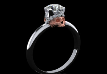 Skull Engagement Rings: Till Death Do Us Part - wedding rings, wedding, Skull Wedding Rings, ring, engagement rings