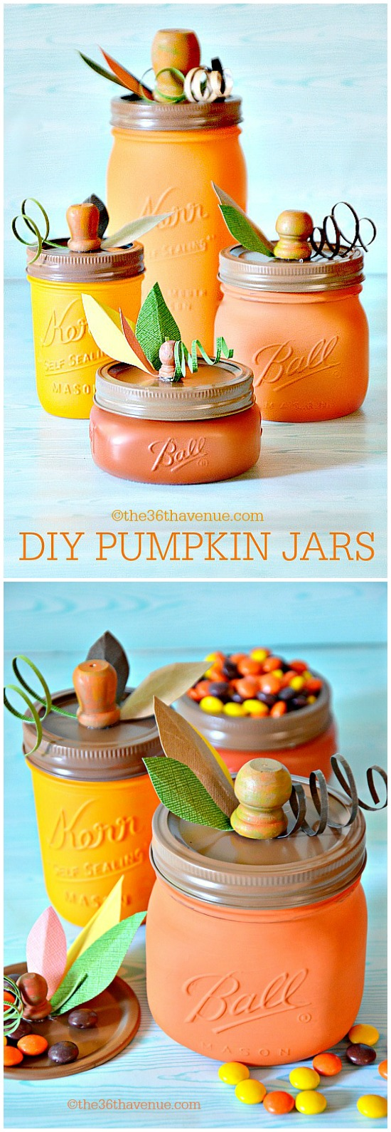 15 Cute DIY Halloween Mason Jars (Part 1)