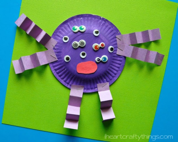 15 Not So Scary Monster Crafts For Kids (Part 1)