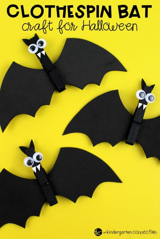 15 Easy Halloween Bat Crafts for Kids - Not Scary Halloween Crafts for Kids, Halloween Crafts for Kids, Halloween Bat Crafts for Kids