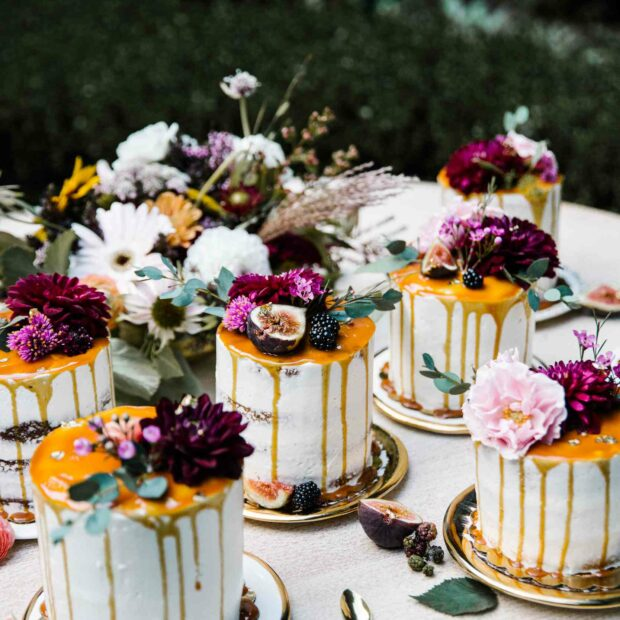 PHOTO BY JUSTIN JAMES MUIR; CAKES BY AMY'S SWEET BAKE SHOP