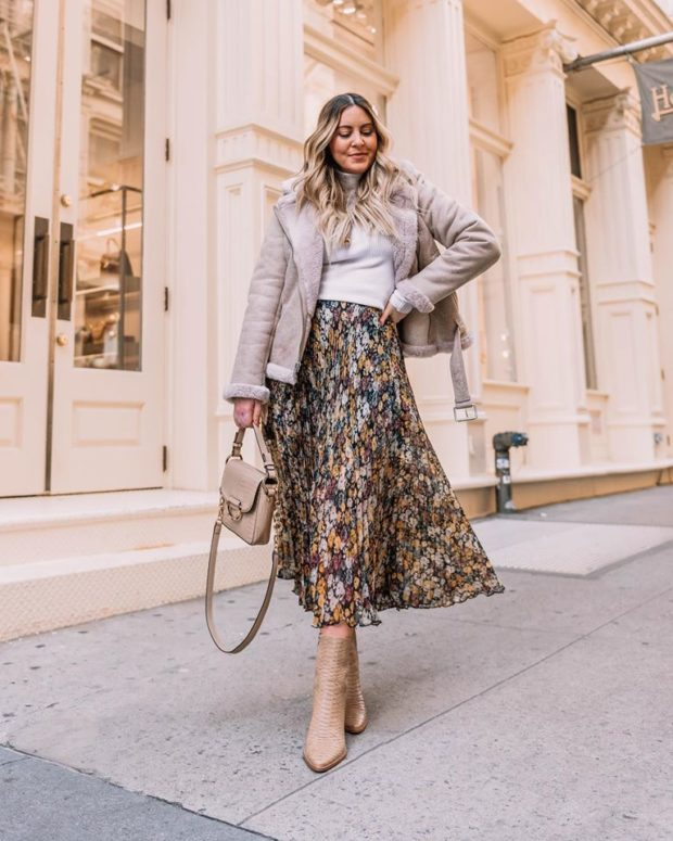 13 Midi Skirt Outfits for This Season