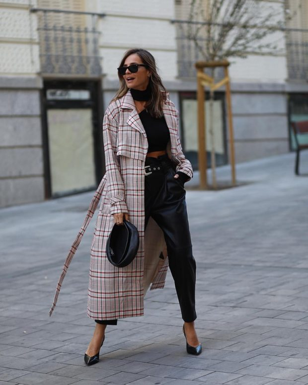 14 Leather Pants Outfits That Are So Chic