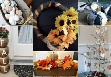15 Great DIY Fall Farmhouse Wreaths and Centerpieces - thanksgiving centerpieces, DIY Thanksgiving Centerpieces, DIY Fall Farmhouse Wreaths and Centerpieces, DIY Fall Farmhouse Wreaths, DIY Fall Farmhouse Centerpieces, DIY Fall Centerpieces