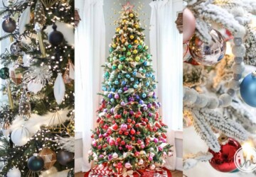 20 Stunning Christmas Tree Ideas 2019 (Part 3) - Farmhouse Christmas Trees, Diy Christmas tree, Christmas Tree Ideas, Christmas Tree Decorating Ideas