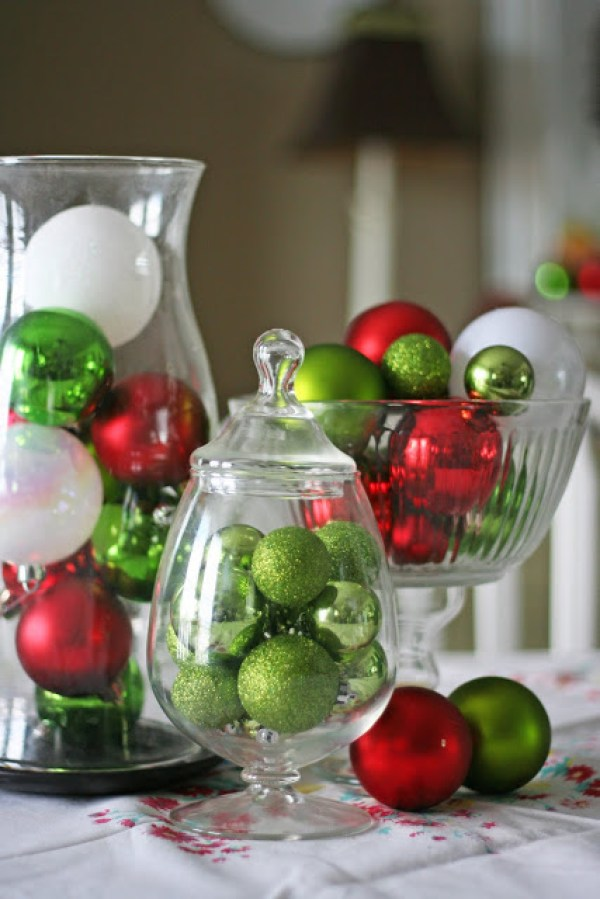 15 Best DIY Christmas Centerpieces (Part 1) - DIY Christmas Centerpieces, Diy Christmas, diy centerpiece, Christmas Centerpieces