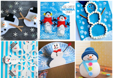 15 Easy and Cute Snowman Crafts for Kids to Make - Snowman Crafts for Kids, snowman crafts, diy snowman, 15 Cute Snowman Craft and Food Ideas