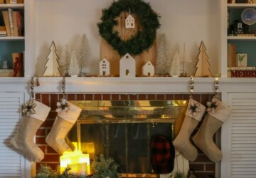 15 Rustic Christmas Mantel Decor Ideas - Rustic Christmas Mantel Decor Ideas, Rustic Christmas Mantel Decor, Rustic Christmas Decor Ideas, Mantel Decor Ideas, Christmas Mantel Ideas, Christmas mantel decoration