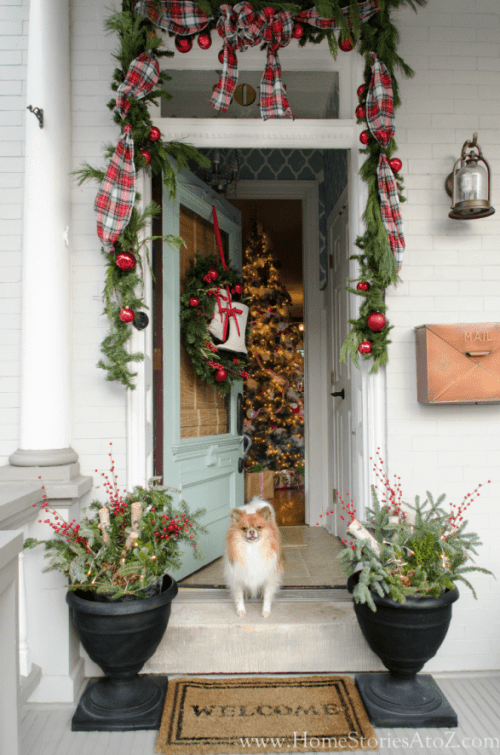 16 Rustic Christmas Porch Decor Ideas - Rustic Christmas Porch Decor Ideas, Rustic Christmas Porch Decor, Rustic Christmas Porch, Christmas Porch Decor Ideas