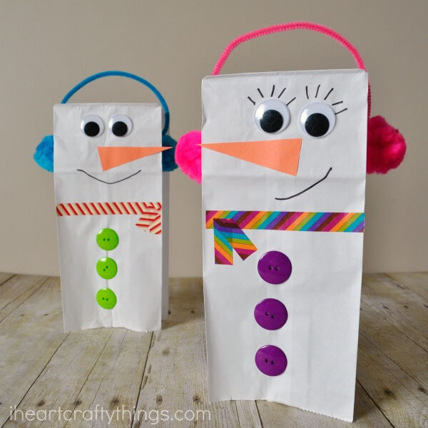 15 Easy and Cute Snowman Crafts for Kids to Make