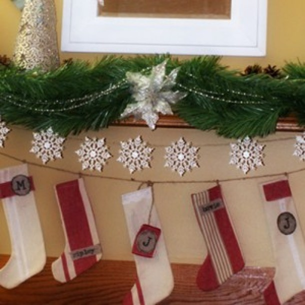15 Easy Handmade Christmas Stockings (Part 1) - DIY Christmas Stocking Ideas, Diy Christmas stocking, Christmas Stockings