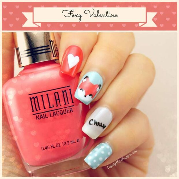 15 Nail Art Ideas for Valentine's Day (Part 1) - Nail Art Ideas for Valentine's Day, nail art ideas, Anti Valentine's Day Nail Art Ideas, Anti Valentine's Day Nail Art