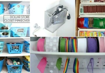 15 Clever Dollar Store DIY Organization Hacks (Part 1) - diy organization projects, DIY Organization Ideas, diy organization hacks, DIY Organization Hack