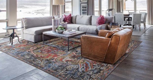 3 Ways An Area Rug Can Complete A Room - texture, rug, round table, interior design, home design, area rug