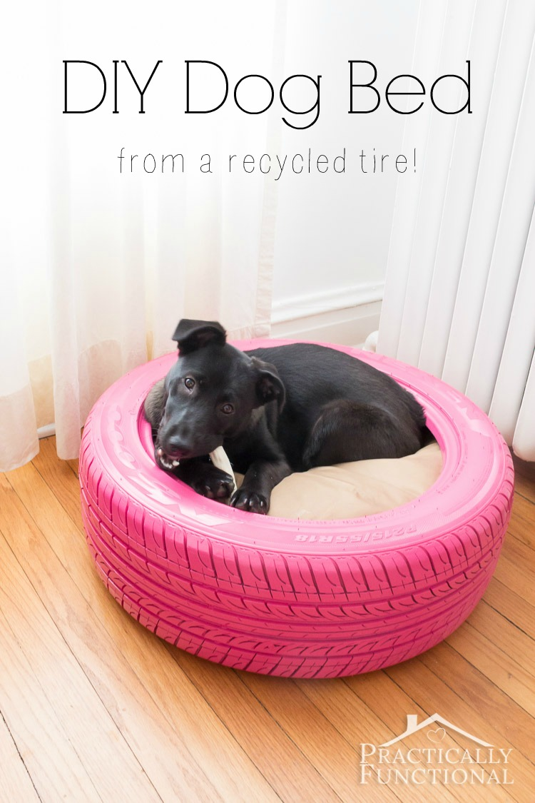 Up-cycled Tire Dog Bed