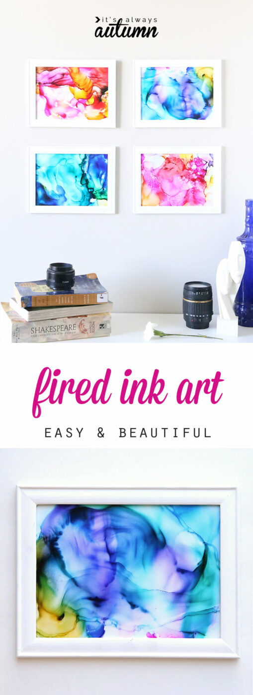 Super Simple Fired Ink Art