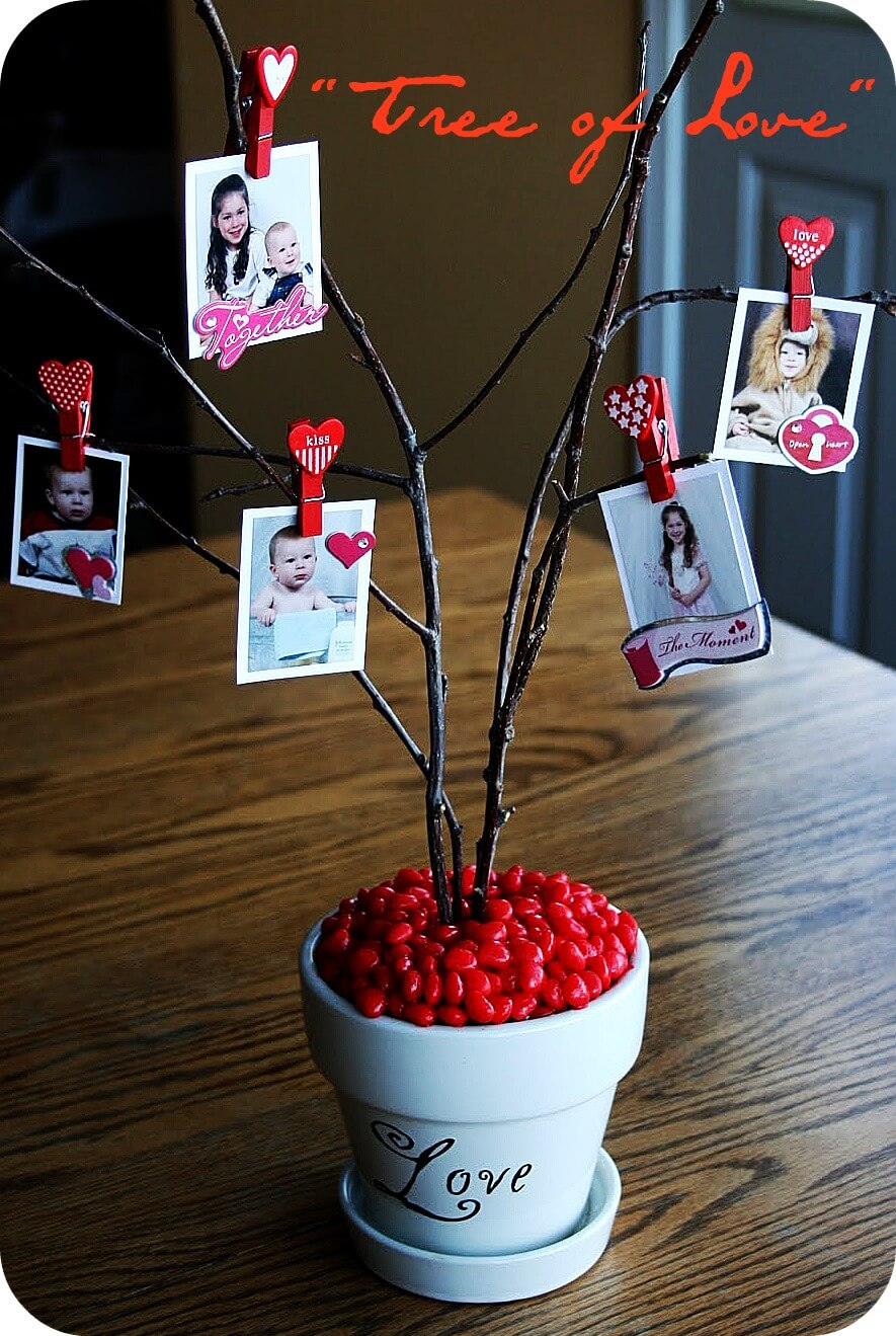 Tree Branch Family Photographs Centerpiece
