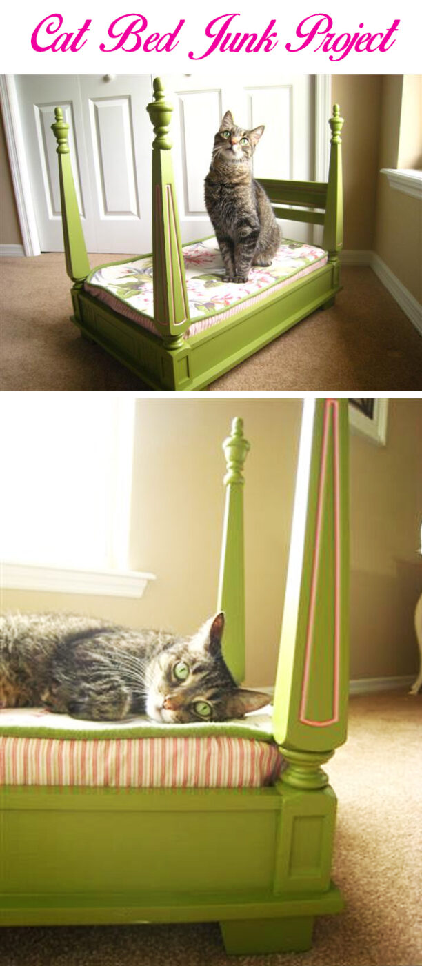 Kitty's Four-poster from Reclaimed End Table