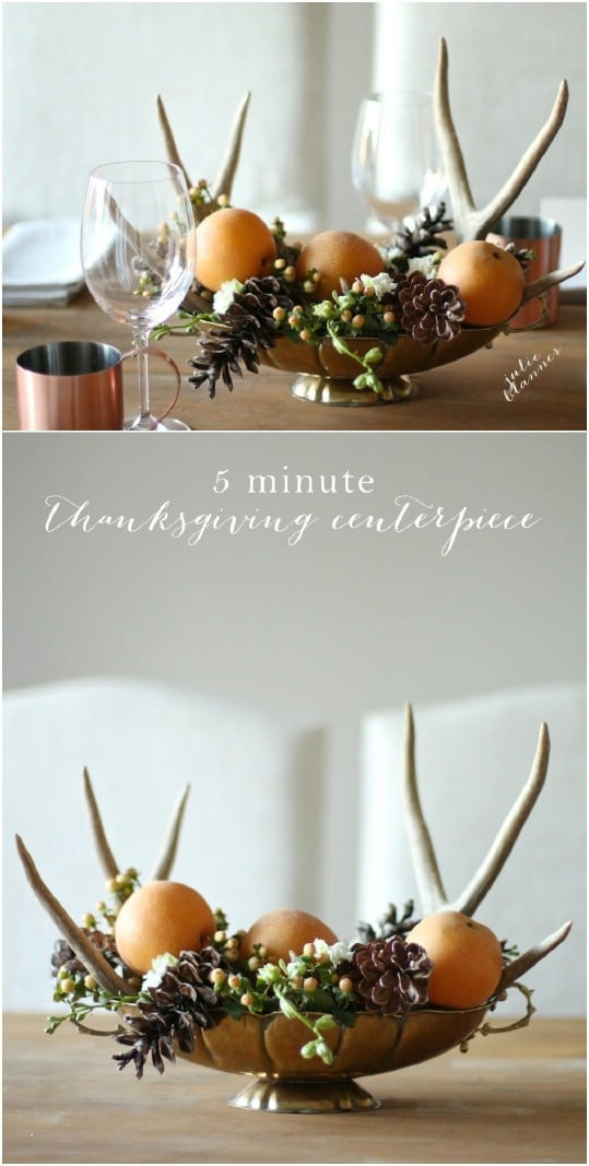 Easy Five Minute Thanksgiving Centerpiece