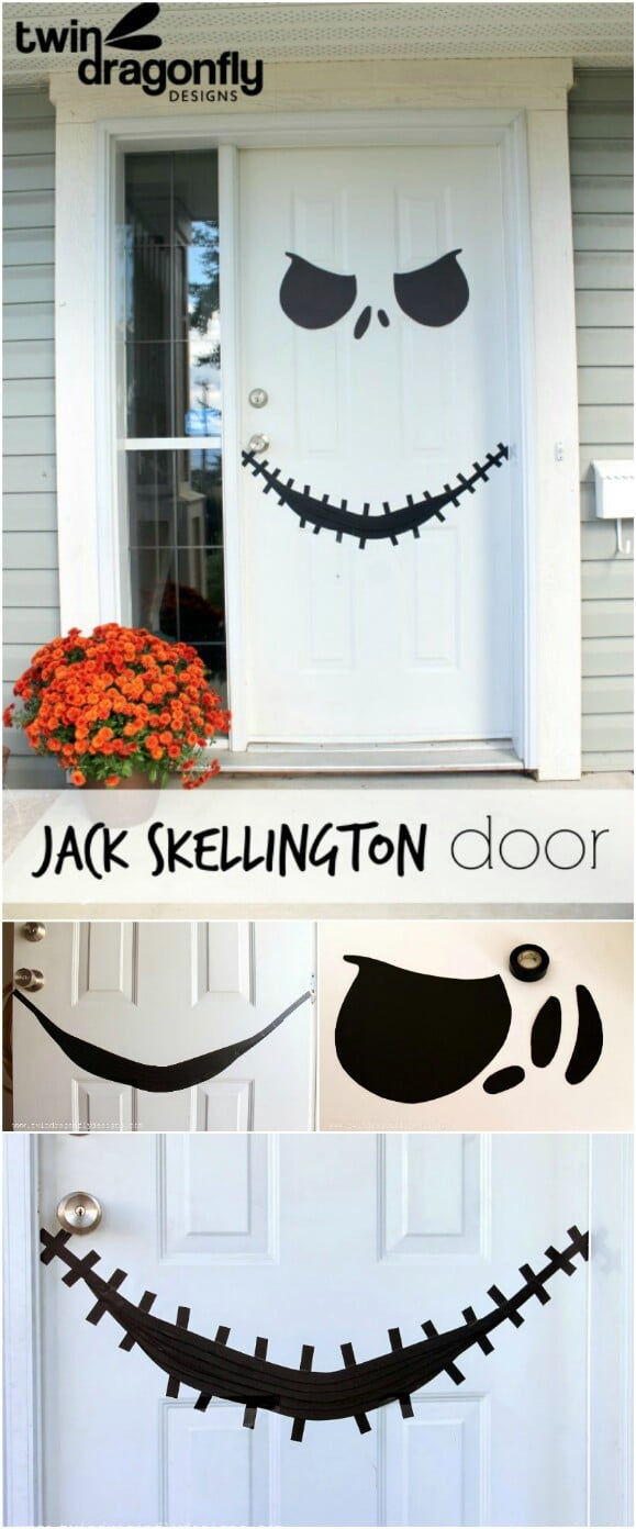 15 DIY Halloween Door Decor Ideas