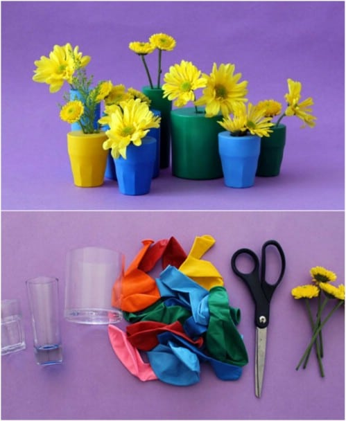 Colorful DIY Balloon Bud Vases