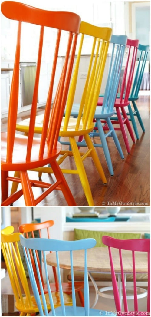 Paint your furniture in a fun spectrum of hues.