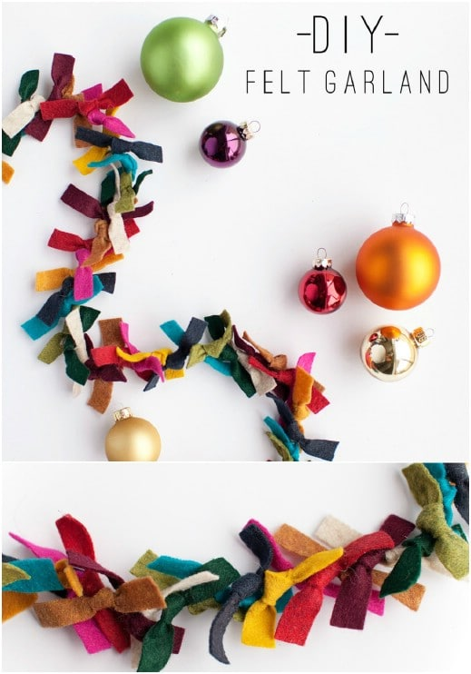 DIY Torn Felt Garland