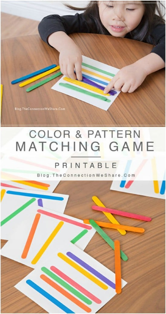 Fun DIY Color And Matching Game